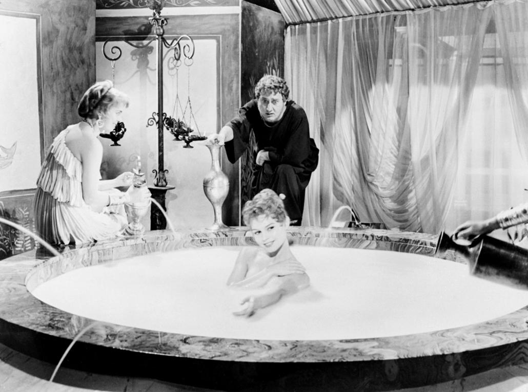 afp.1956. - Párizs, Franciaország: Brigitte Bardot a ''Mio figlio Nerone / Fiam, Néró'' című filmben - nagyítás, Stefano Vanzina