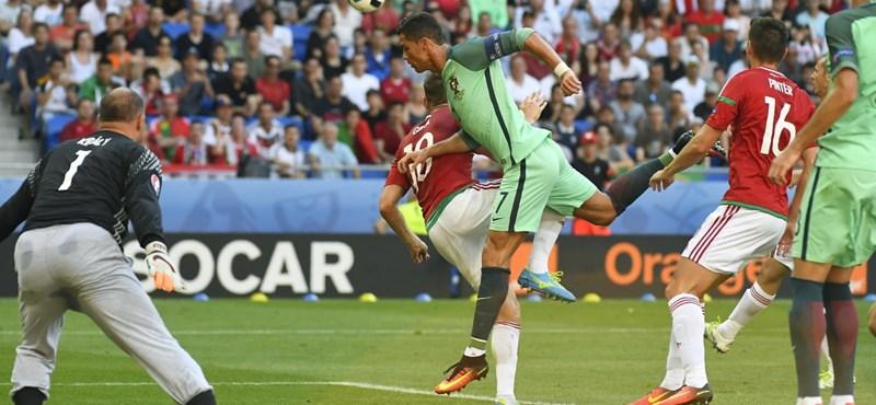 Ronaldo így hisztizett a magyar gól után - videó