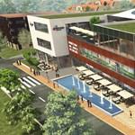Új üzletközpont épül Budán - óriási zöldtetővel