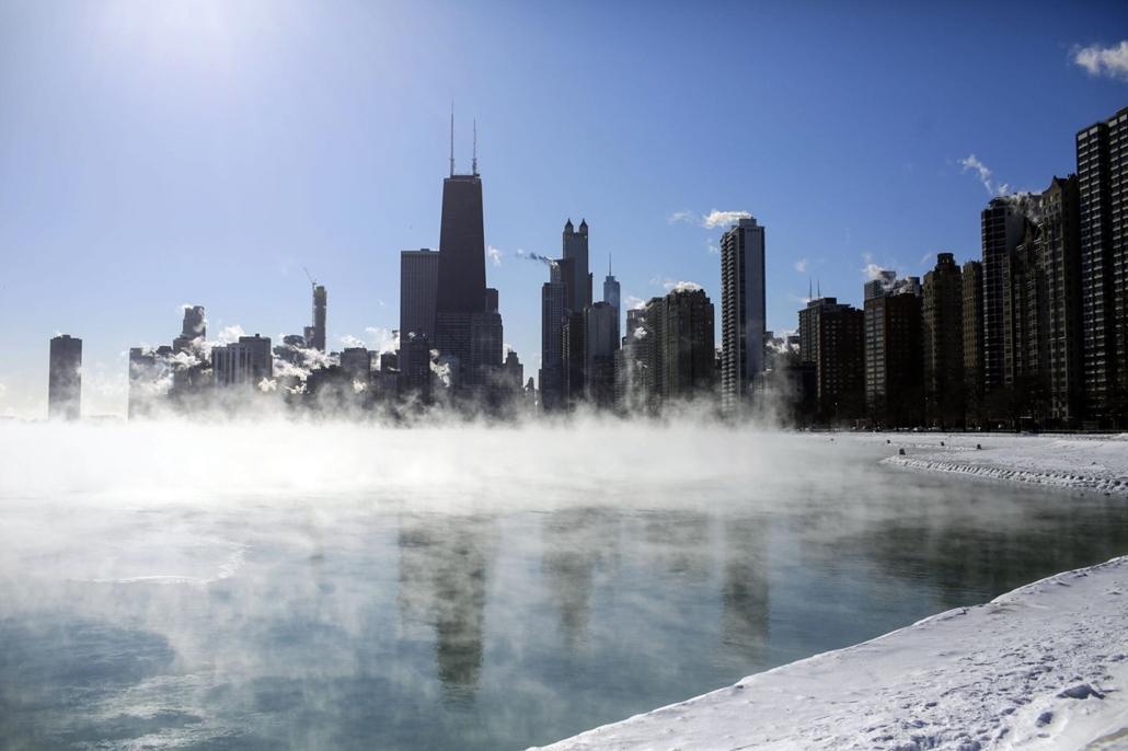 afp.19.01.30. rendkívüli hideg Chicagóban