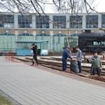 Kicsinosították a szombati nyitás előtt a Vasúttörténeti Parkot – fotók