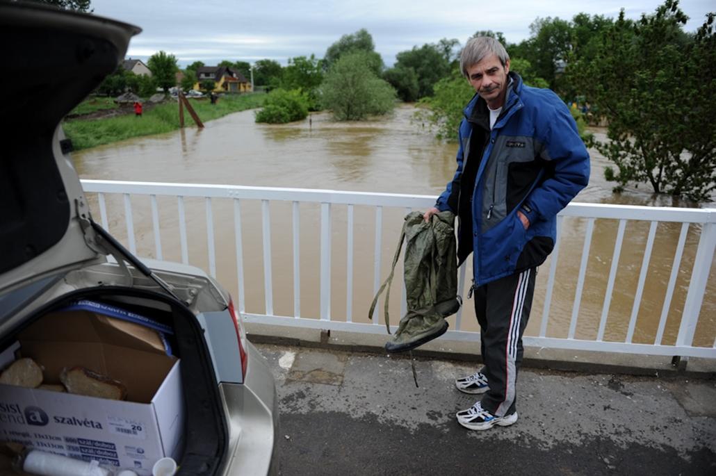 árvíz áradás Edelény