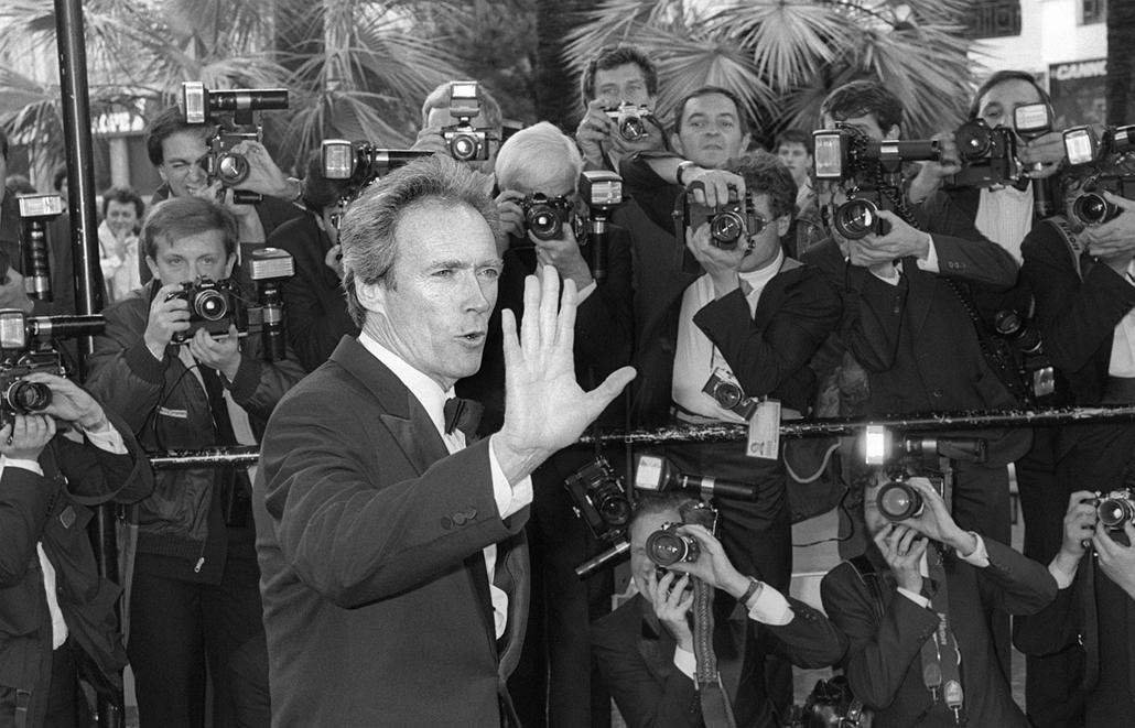 afp.1985.05.14. - Cannes, Franciaország: Clint Eastwood a Cannesi Filmfesztiválon 1985-ben.