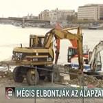 Mégis elbontják az óriás ugrótorony betontalapzatát