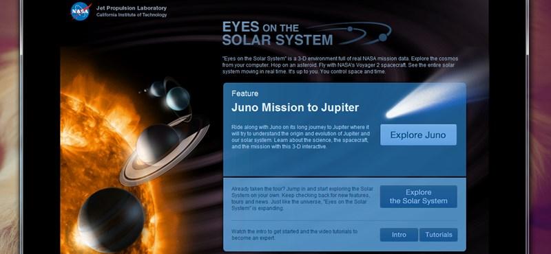 Tegyünk látványos 3D-s űrsétát a NASA online alkalmazásával [videóval]