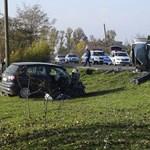 Fotó a Békés megyei halálos baleset helyszínéről