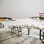 Fotók: nagy havazás volt a Mátrában