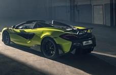 Felfelé ordító kipufogó a McLaren új kabrióján: 315 km/h nyitott tetővel
