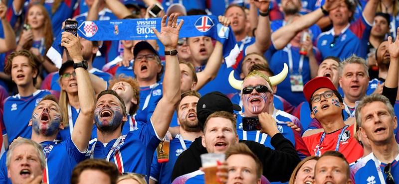 Hátborzongató az izlandi szurkolók tapsa