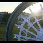 Hipnotizáló kerékpár-animáció Londonból