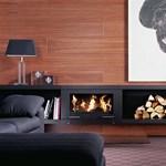 Tűz a szoba közepén: forgatható kandalló Németországból