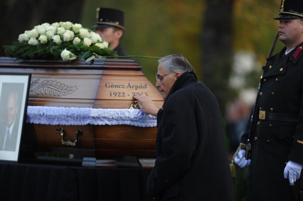 tg. Göncz Árpád temetése, 2015.11.06. Óbudai temető, Mécs Imre