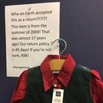 A vásárló szívat: egy 17 éves inget vetetett vissza a bolttal
