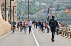 Tovább használhatják a rakpartot hétvégenként a gyalogosok és a kerékpárosok