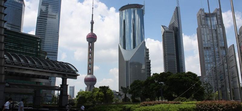 Égi meszelők Sanghajban. Képek!