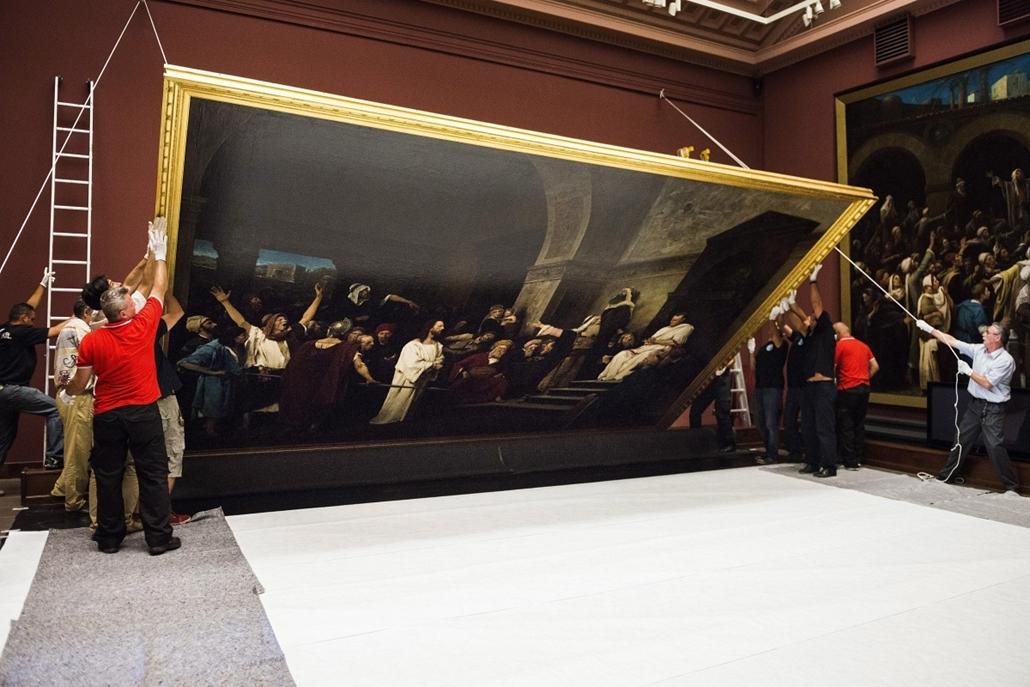 mti.14.07.14. - Debrecen: Munkácsy Mihály Krisztus Pilátus előtt című festménye visszakerül Kanadába