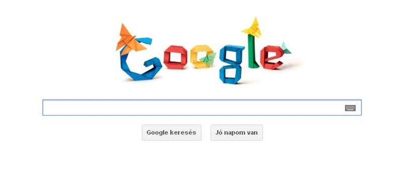 A mai doodle az origamiról szól