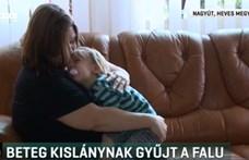 Kupakok ezreivel segítenek egy kislányt Nagyúton