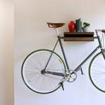 Tökéletes bringatárolás a falon