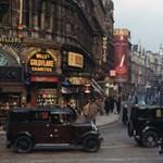 Régi fotók színesben Londonról