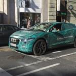 Budapesten botlottunk bele a még nem is kapható elektromos Jaguarba - fotó