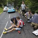 Indul a Vueltán a Touron megsérült brit kerekes