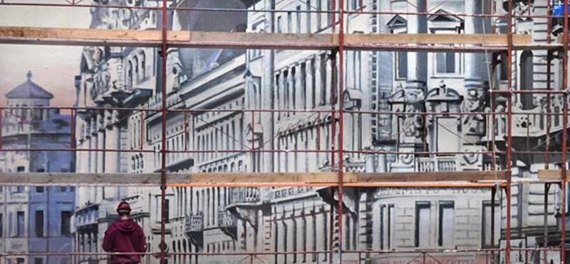 Itt látható Budapest egyik legnagyobb szabadtéri falképe