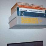 Zseniális megoldás: láthatatlan könyvespolc házilag