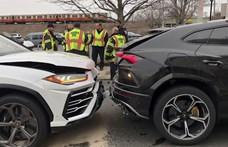 Ellopott két Lamborghinit pár tinédzser, aztán egymásnak mentek a piros lámpánál