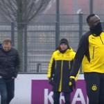 A nap legszebb sporteseménye videón: Usain Bolt gólt fejel és cicázik dortmundi edzésén