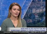A hírigazgató megdicsérte a riportert a Karácsony-interjú után