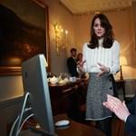 Fotók: Katalin hercegné újságírónak állt