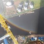 Teljes körszivárványt videóztak le Szentpéterváron