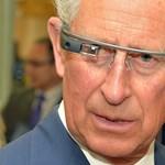 Fotó: Károly herceg rácsodálkozott a Google Glassra