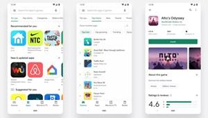 """Fehérre """"festette"""" a Play áruházat a Google"""