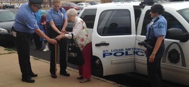 Videó: Letartóztatták a 102 éves nénit, hogy teljesíthesse a bakancslistáját