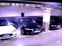 Videó: parkolás közben robbanhatott fel egy Tesla