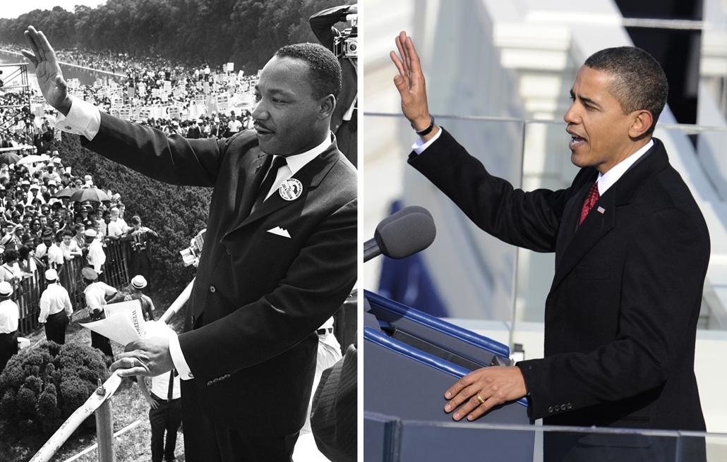 afp. 09.01.20. Martin Luther King az amerikai polgárjogi mozgalom vezetője 1963 augusztus 28-án.