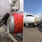 Fotók: elszabadult egy repülő, csúnyán összeütközött egy másikkal Kenyában