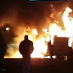 Többen is levideózták a lángoló magyar buszt