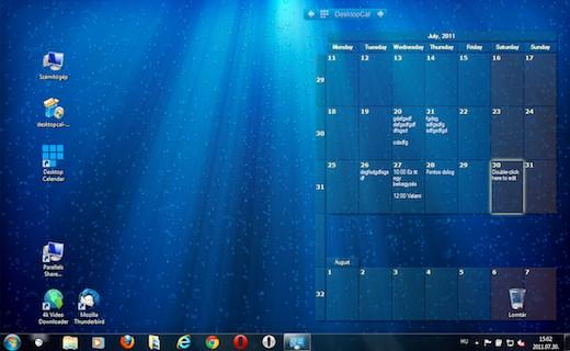 asztali naptár program Tech: Látványos és működő naptár a Windows háttérképeként   HVG.hu asztali naptár program