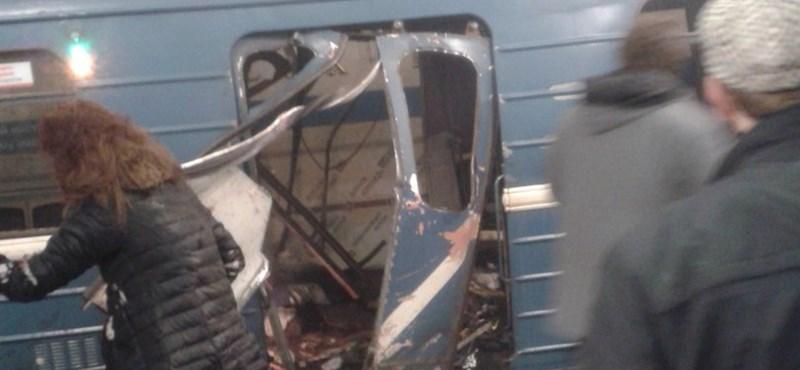 Robbantás a szentpétervári metróban
