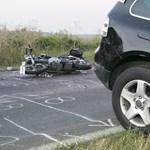 Tolató terepjáró gázolt halálra egy motorost Kiszombornál