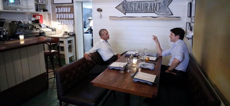 A szabad világ ledobta a cukibombát: Obama és Trudeau együtt ebédelt