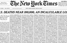 Megrázó címlappal jelent meg a mai New York Times