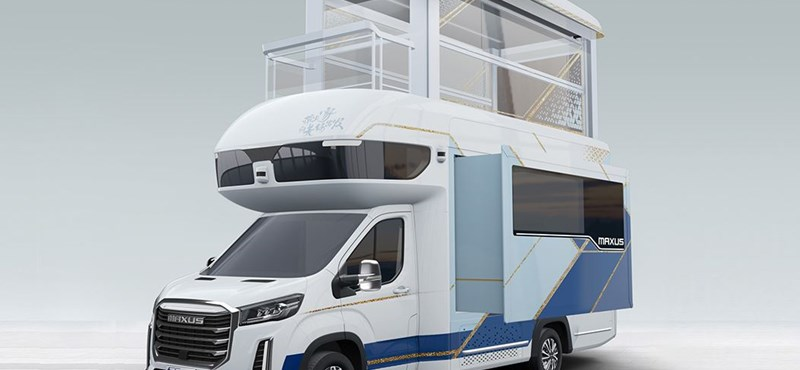 There is also a lift and a separate tea room in this 122 million caravan