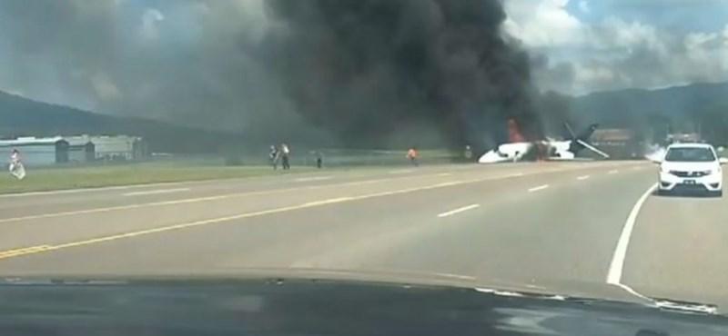 Kigyulladt az egyik leghíresebb Nascar-pilóta magángépe landolás után