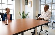 Greta Thunberg öklözött egyet Barack Obamával