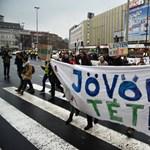 """""""Rózsacsökkentést"""" - újra tüntettek a Hoffmann-féle reformok ellen"""