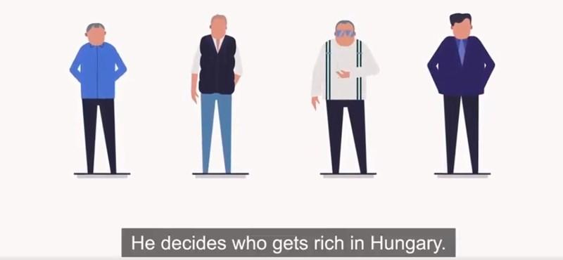 Az Orbán-haverok gazdagodásáról készített rajzfilmmel kampányolnak az európai liberálisok